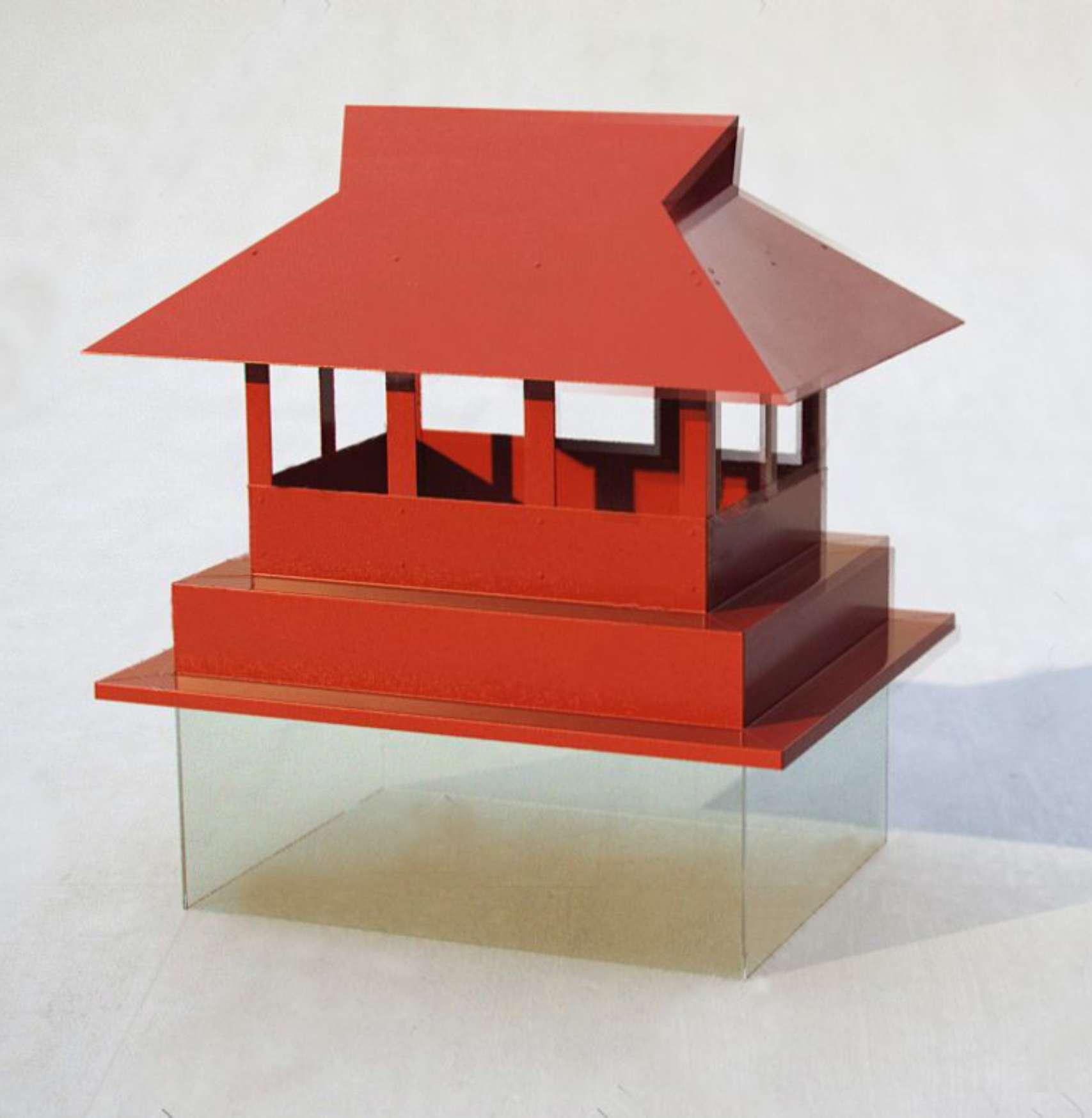 Флюгарка с дополнительной крышей