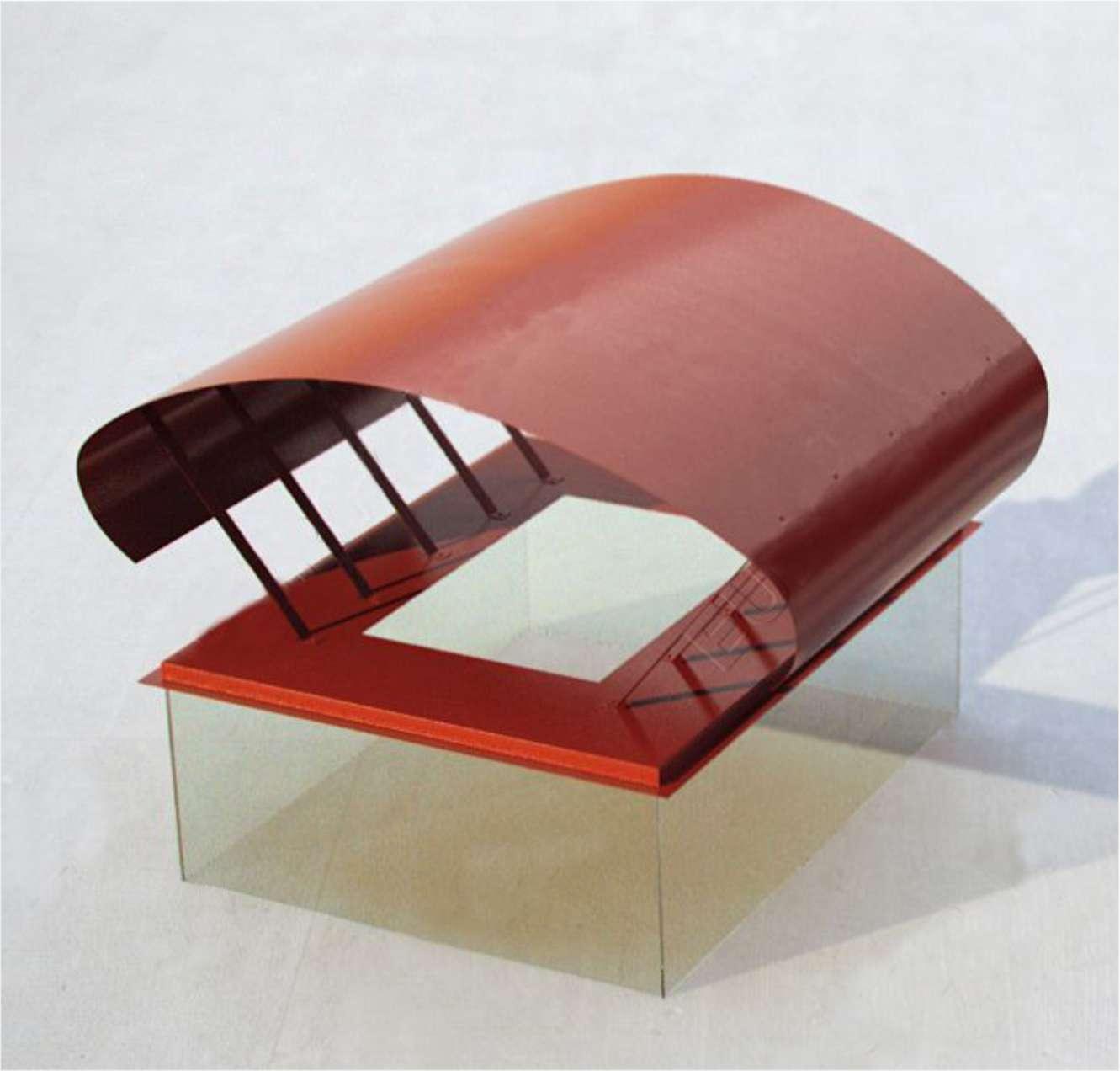 Флюгарка с крышкой плавной закругленной геометрии